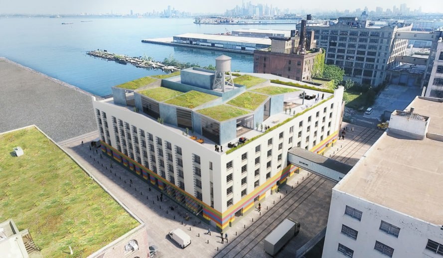 Made in NY Campus, WXY architecture + urban design, Sunset Park, Brookylin, green masterplan, green renovation, waterfront architecture, public spaces, plazas