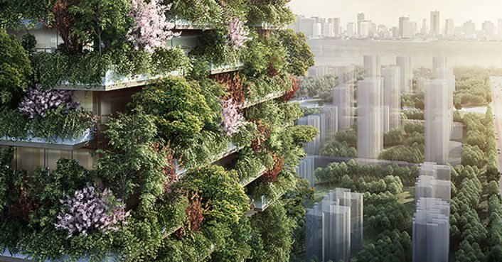 China's first vertical forest is rising in Nanjing