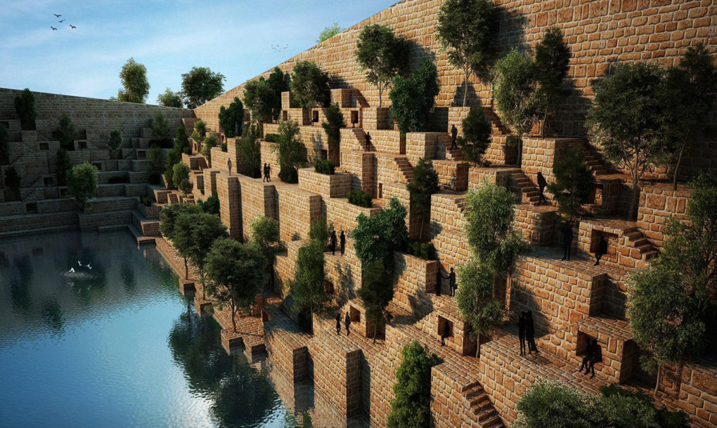 Architects Use Earthen Berms To Tuck A Central Reservoir