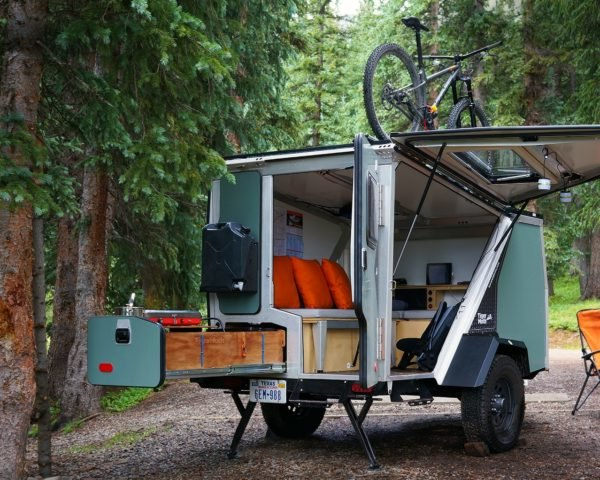 TigerMoth Camper, Taca Outdoors, tiny campers, home on wheels, off-grid living, off grid homes, tiny homes, camper living, tow campers, solar power, led lights, green living, green design, mobile homes, camper homes, small homes, tiny home design,