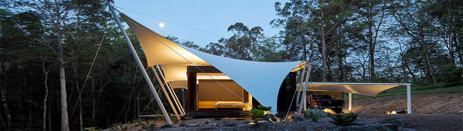 Shapeshifting tent house in australia blurs the line between indoor and outdoor spaces - Shape shifting house ...