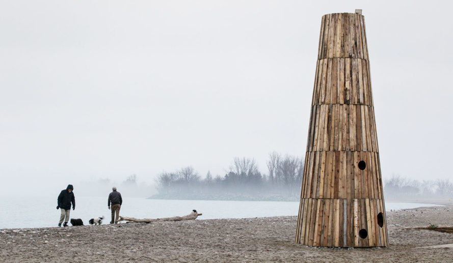 The Beacon, lighthouse, Toronto, wooden structure, donation, charity, João Araújo Sousa & Joana Correia Silva Arquitectura, green architecture, humanitarian design