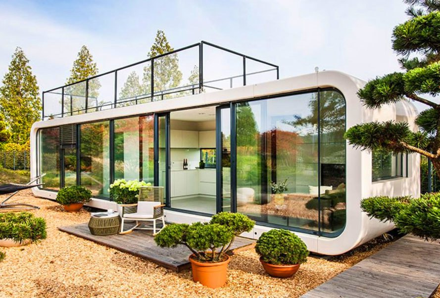 The coodo prefab tiny home inhabitat green design for Prefab beach homes