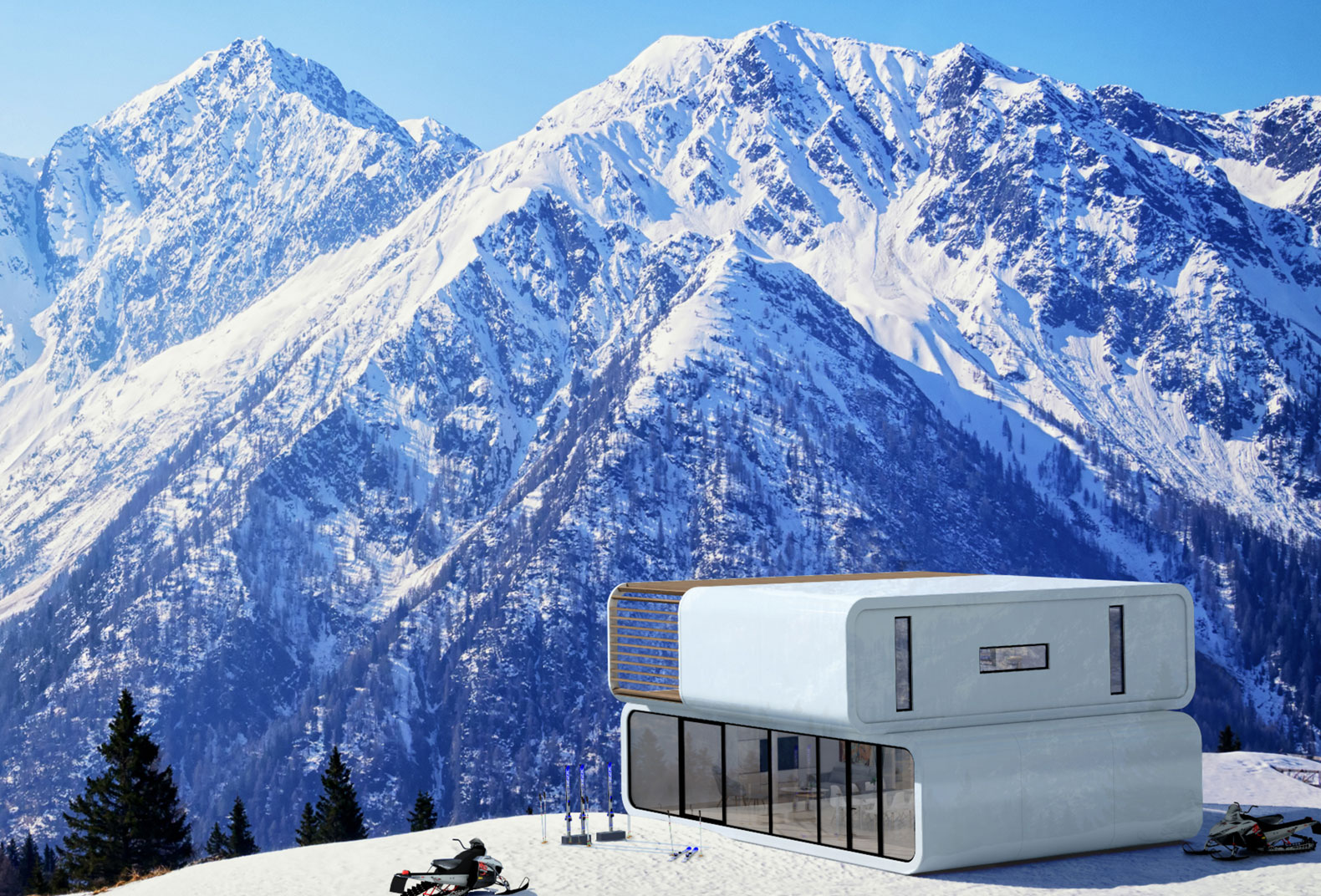 Home In The Mountains the self-contained mobile prefab coodo lets you live anywhere in