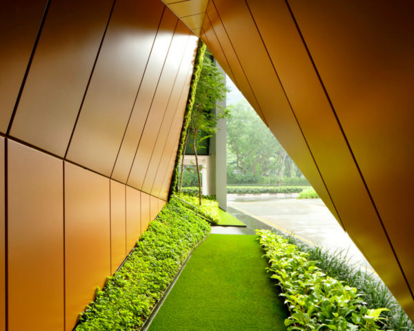 WOHA architects, 48 north canal road, green renovations, green space, green rooftop, garden rooftop, garden terrace, singapore architecture, green buildings, sustainable design, green gardens, green office space, office design,