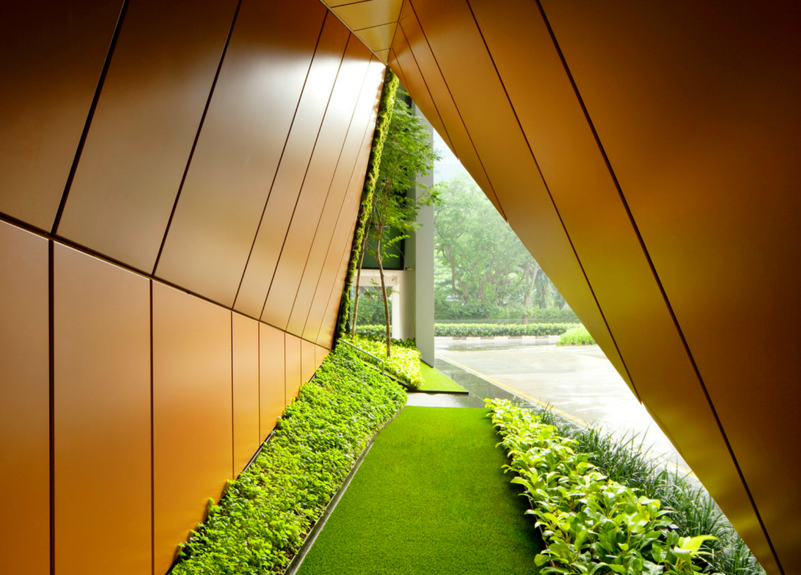 green office. WOHA Revamps Singapore Office With Lush \u0027pocket Parks\u0027 Green R