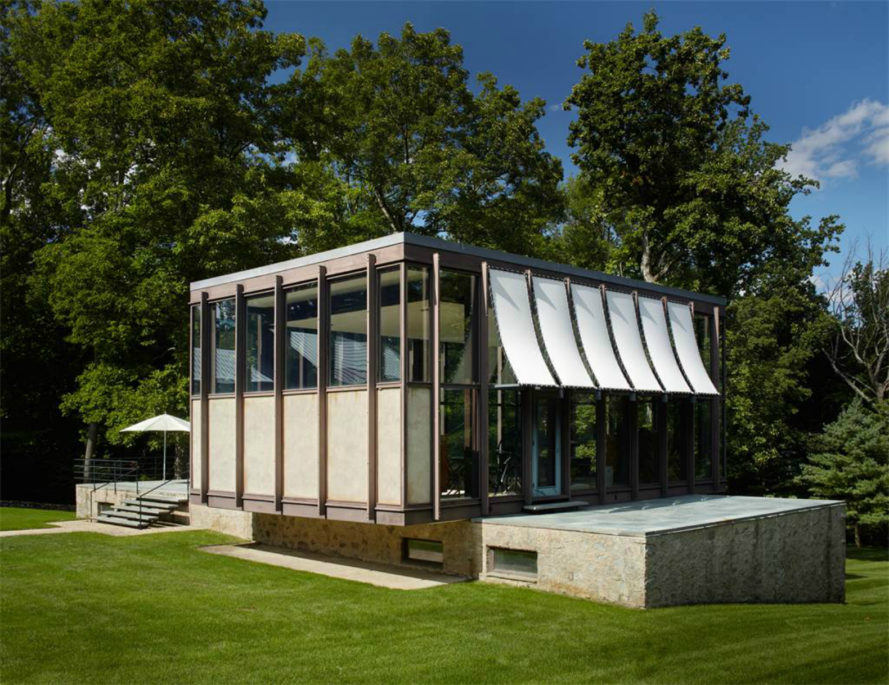 Wiley House, Philip Johnson, New Canaan, Connecticut, midcentury home design, iconic home design, icon homes, philip johnson homes, 218 Sleepy Hollow road, iconic architecture, mid century design, Roger Ferris + Partners