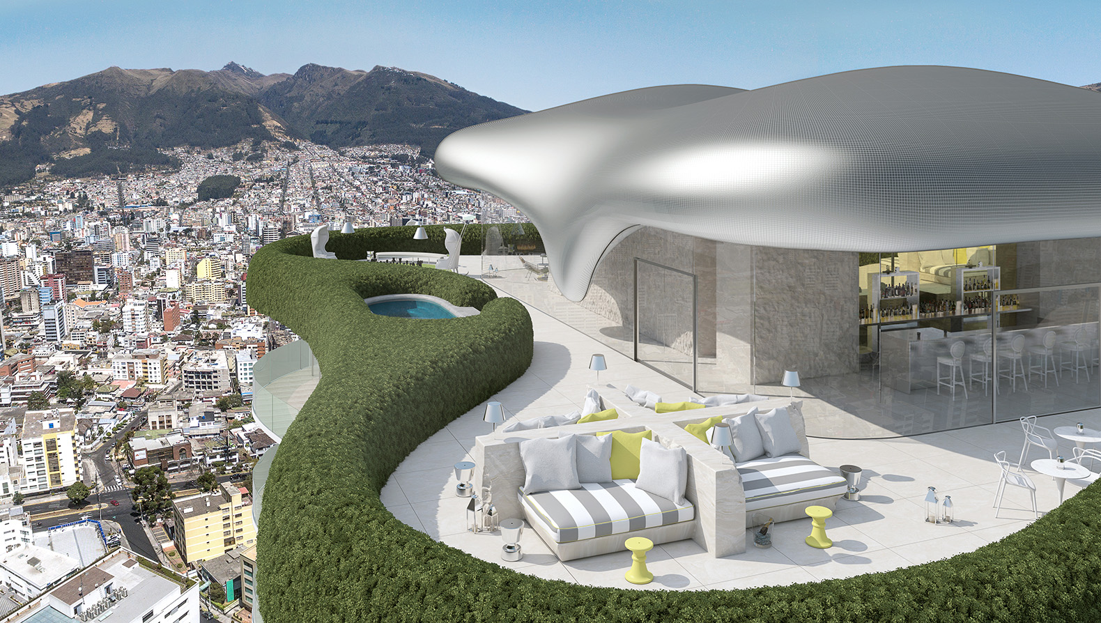 Philippe Starck reinvents himself again with striking green YOO Quito tower