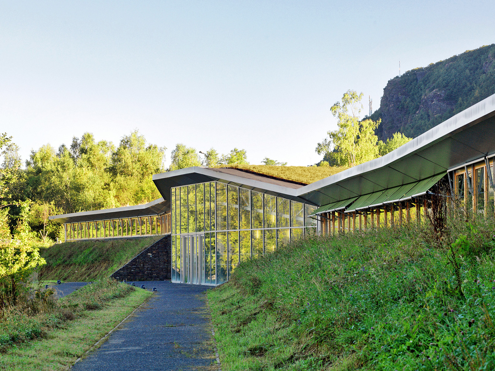 Amazing Green Roofed School Melts Into The Mountains Of France