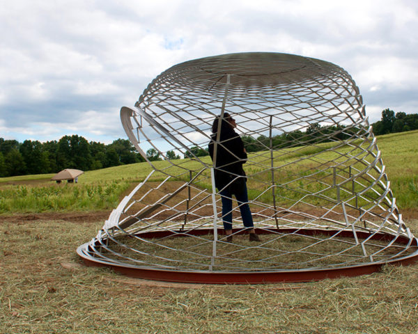 Haresh Lalvani, Pratt Institute Center for Experimental Structures, biomimicry design, humanitarian design, shelter design, 3D structures, futuristic design, emergency housing, emergency shelters, refugee housing, biomimicry design, metal housing, flat pack housing, metal shelters