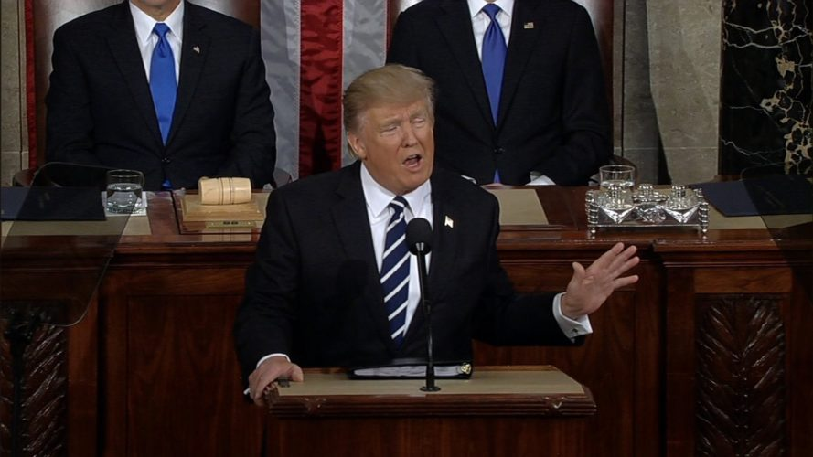 Donald Trump, address to Congress, clean energy, fossil fuels, climate change