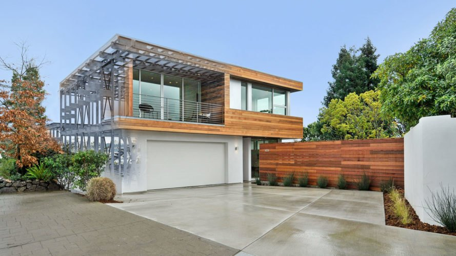 Acacia Avenue House, BONE Structure, green technology, building technology, net-zero house, Oakland, open plan layout, natural light, floor-to-ceiling windows