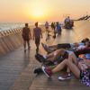 Gorgeous Bostanlı Bridge doubles as public park, designed for sunset watching