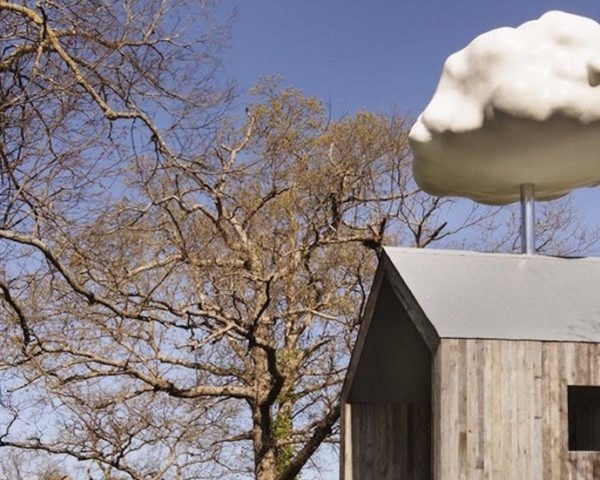 Cloud House by Matthew Mazzotta, Cloud House in Springfield, artful rainwater harvesting, rainwater art installation, environmental art in Springfield, Cloud House rainwater, Cloud House makes it rain,