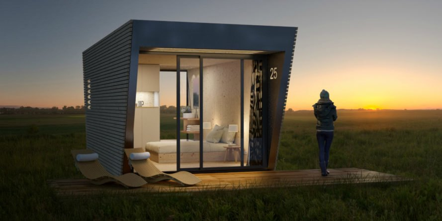 In Tenta, dropbox portable hotel suite, microarchitecture, green design, hotel design, micro hotels, micro lodging, modular microarchitecture, modular building, modular architecture, modular hotels, mini hotels, tiny room hotel