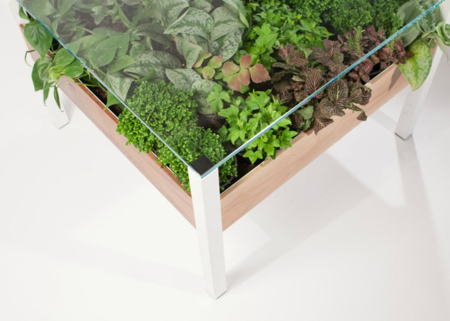 Living Table, living table planter, tables as planters, green furniture, diy planters, planting systems, living furniture, living walls, green plants, diy plant holders, green tables, tables with plants, green furnishings, plant care, plant holders, green products, interior design, unique planters, unique tables