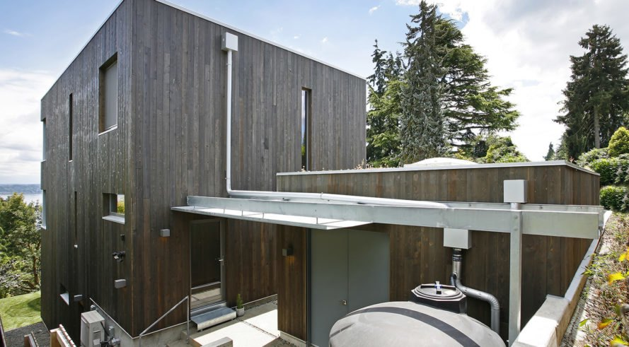 Madrona Passive House, Shed Architecture & Design, net zero, Seattle, solar power, energy efficiency, modular house, green roof, green architecture, insulation, passive house, rainwater harvesting, heat recovery, energy consumption