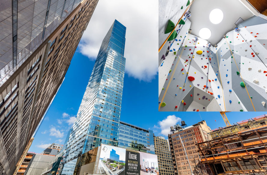 eugene, the eugene, manhattan west, rw studios, roman and williams, brookfield property partners, hudson yards, slce architects, skidmore, owings and merrill, green building, green design, rock climbing wall