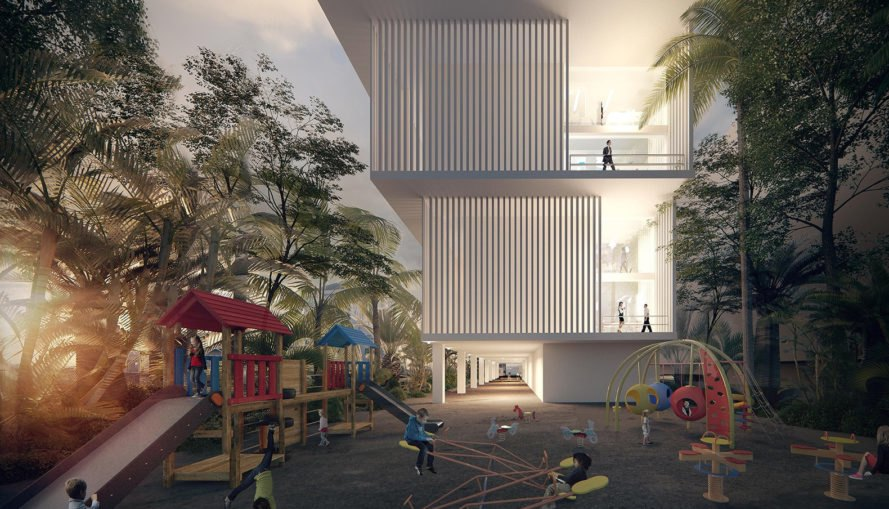 Otunba Offices, Domaine Public Architects , affordable architecture, green office building, Lagos, natural ventilation, small footprint, Nigeria, multi-purpose spaces, green architecture