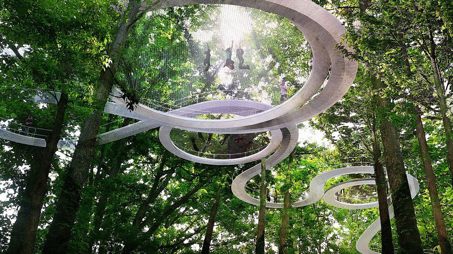 parkorman forest park in turkey lets you trampoline through the