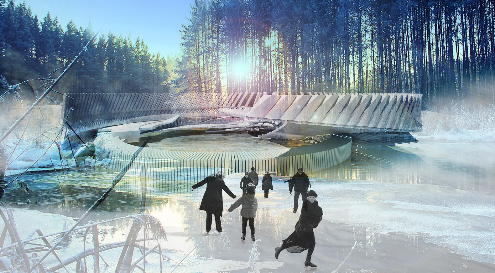 Russian ice skating rink doubles as a solar-powered ...