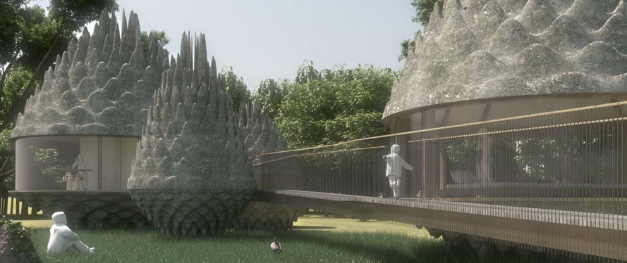 Pinecones Resort, 3GATTI Architecture Studio, OFL Architecture, eco-resort, Latvia, ETFE, ETFE membrane, recyclable building materials, lightweight structure, water filtration, geothermal, solar windows, green architecture, natural building materials, locally sourced materials