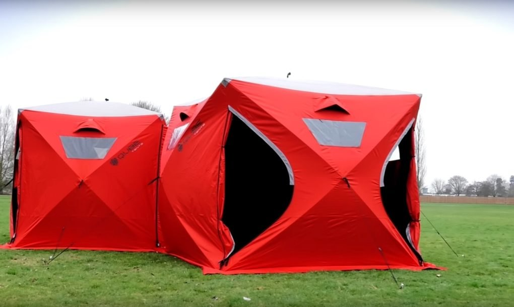 Modular Qube Tents Snap Together To Create Giant Camping