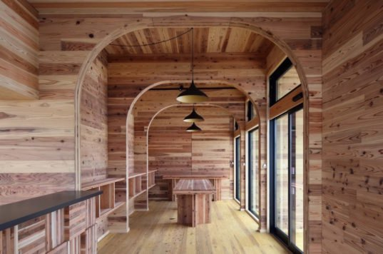 Office With Arched Openings Shows Off The Beauty Of Cross