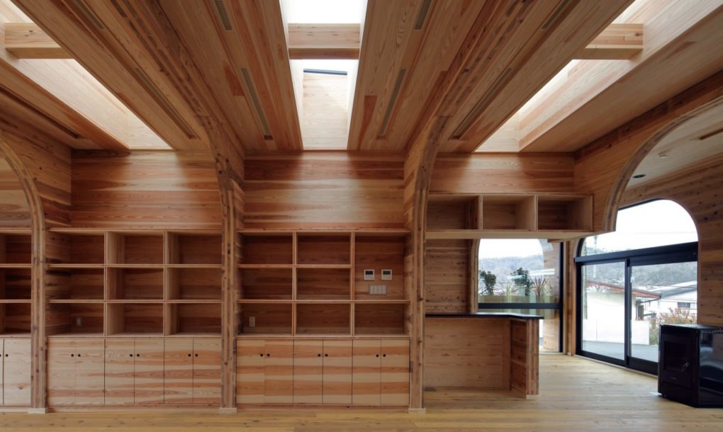 Office With Arched Openings Shows Off The Beauty Of Cross Laminated Timber Inhabitat Green