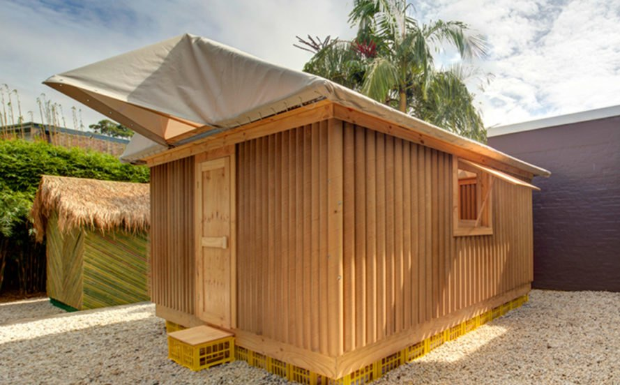 Shigeru Ban, Emergency shelters, disaster shelters, cardboard home, bamboo home, emergency cardboard home, Shigeru Ban Architects, shelter design, disaster shelters, disaster structures, humanitarian design, temporary architecture, cardboard architecture, temporary shelter, shelter structures, bamboos structures, locally-sourced materials, Ecuado, bamboo shelters, Pritzker Prize architects, affordable housing, cardboard housing, green design, humanitarian architecture