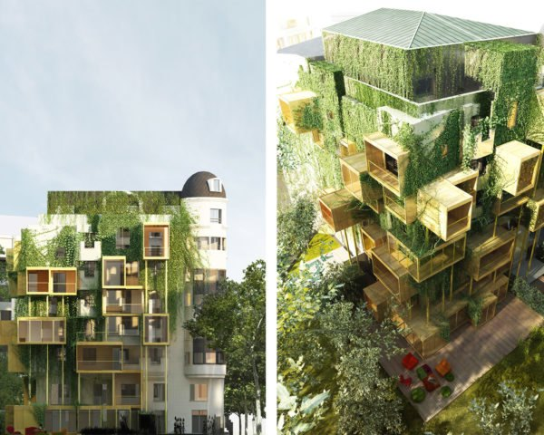 stephane malka, Malka Architecture, PLUG-IN CITY 75, energy optimization, energy efficiency, green cities, vertical gardens, energy efficient design, urban design, vertical gardens, green design, sustainable design, energy savings, parasitic architecture, green renovation, urban revitilization