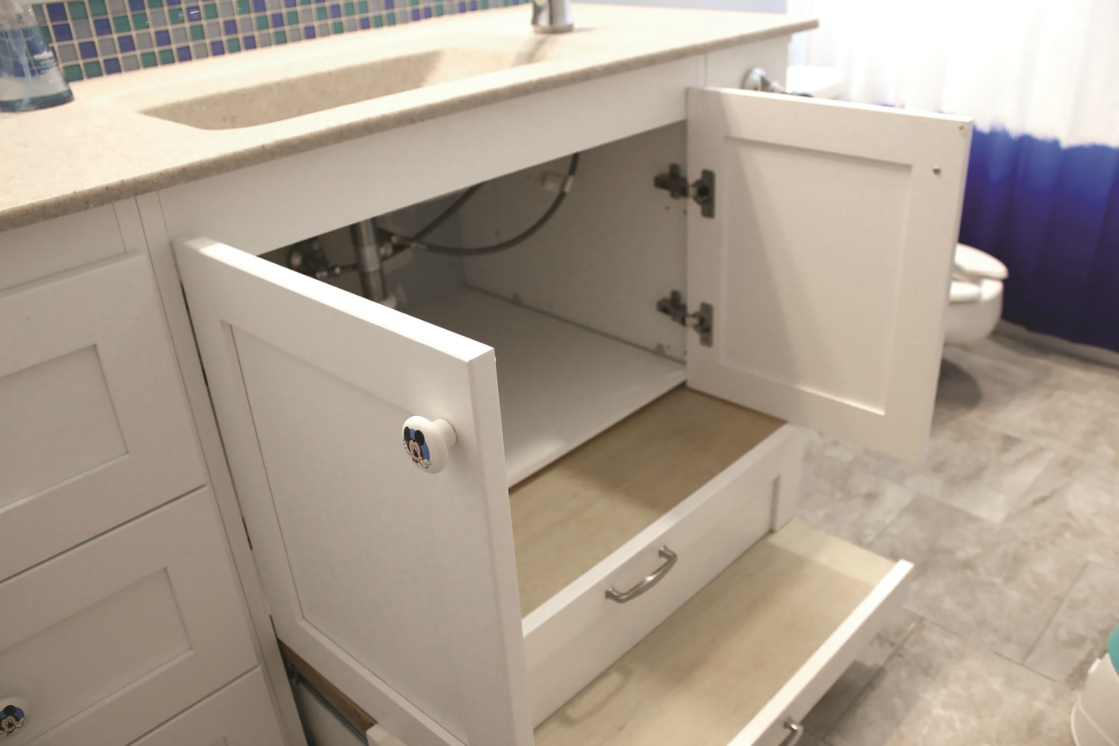 Clever Bath Vanity Design Helps Give Special Needs Child