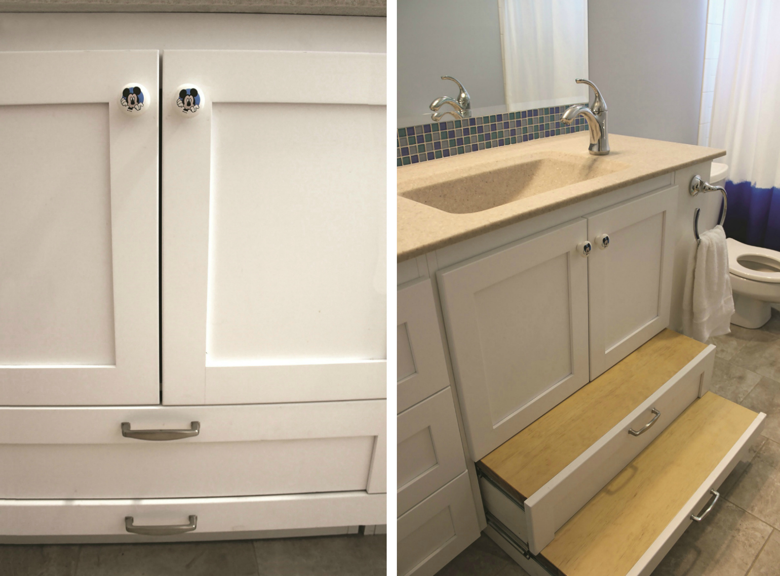 clever bath vanity design helps give special needs child more