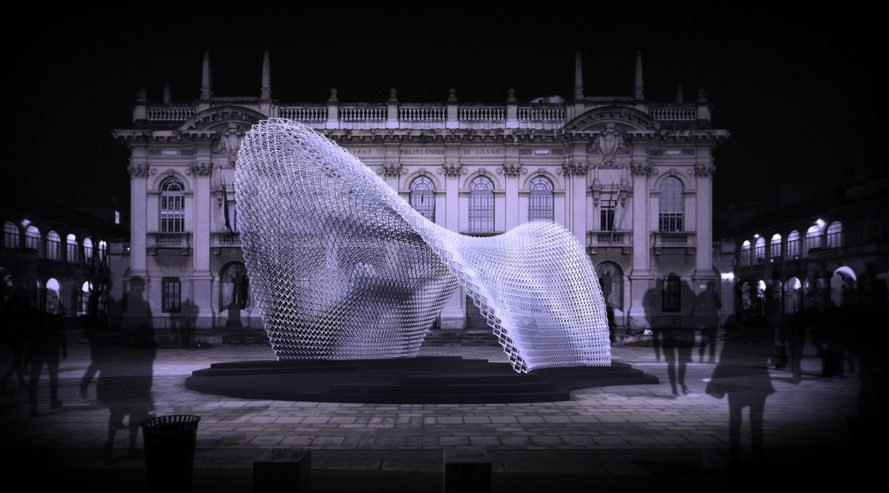 Trabeculae Pavilion, Politecnico di Milano, Made Expo 2017, lightweight structure, pavilion, biomimicry, Filoalfa, 3d printing, green architecture, biopolymer