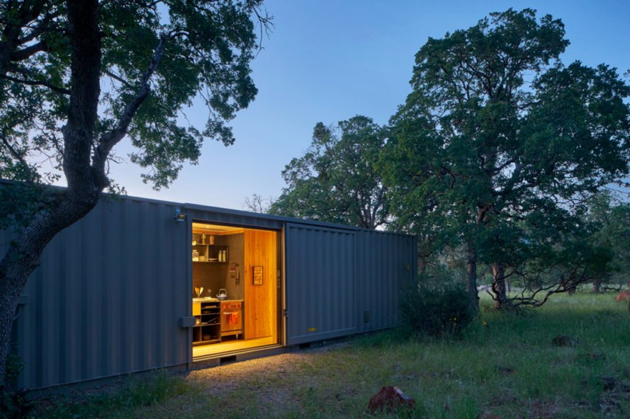 the container cabin is located on 1000 acres of pristine wilderness the idyllic location is next to an old creek bed with amazing sunset views of the
