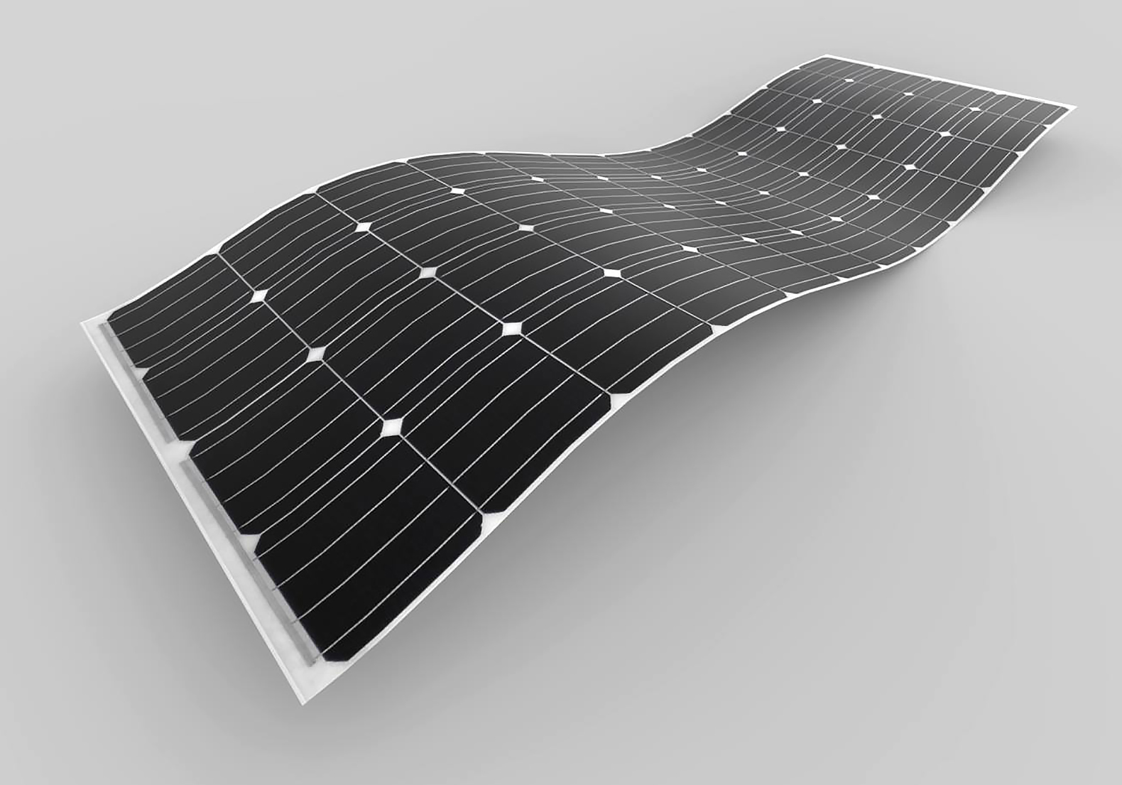Flexible new solar panel is almost 80% lighter than traditional panels