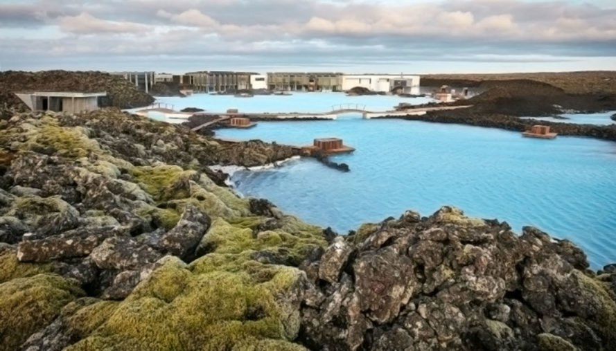 blue lagoon, iceland, geothermal power, spa, hot spring, minerals, silica, mineral water, resort, hotel, moss hotel, moss restaurant, lava cove