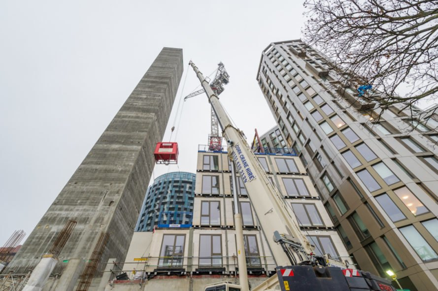 Apex House by HTA Design LLP, Apex House by Tide Construction and Vision Modular Systems, tallest modular tower in Europe, modular student housing, modular high rise, modular architecture, prefabricated student housing, Wembley architecture