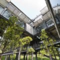 Green Roofed Cantilever House Floats Above The Malaysian