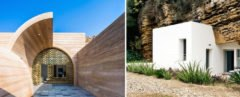 Cuevas del Pino by UMMO Estudio, Britain cave home, France cave home, Loess Plateau modern cave homes, contemporary cave homes, modern cave architecture, Ra Paulette cave homes New Mexico, New Mexico cave homes, sandstone cave homes