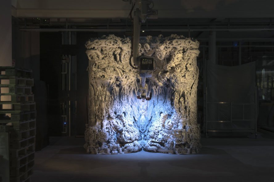 Digital Grotesque II by Michael Hansmeyer and Benjamin Dillenburger, Centre Pompidou, Digital Grotesque II in Centre Pompidou, 3d printed grotto, 3d printing in architecture, 3d printed Digital Grotesque II , 3d printed sandstone
