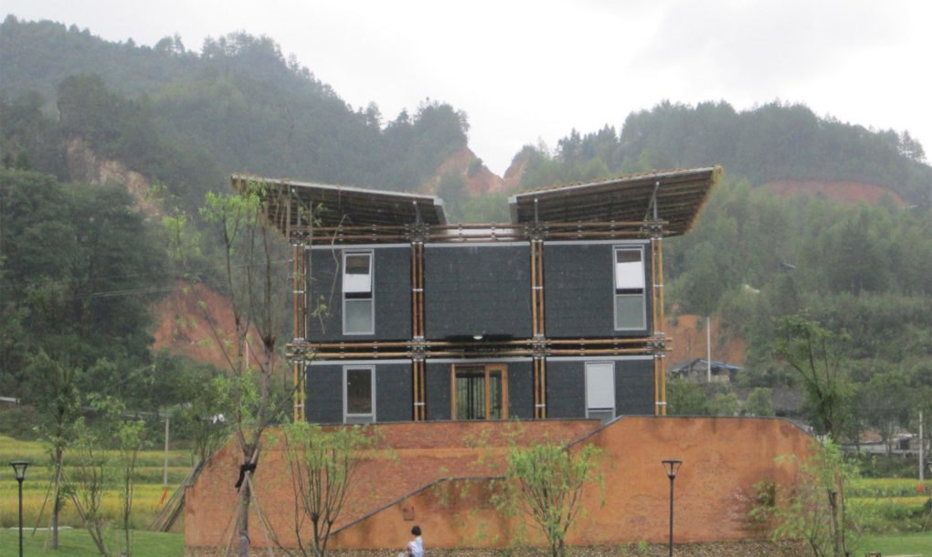bamboo house design and floor
