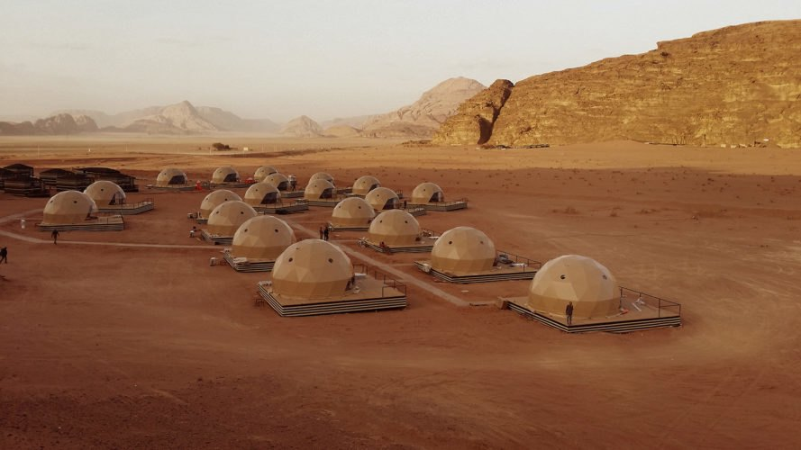 Freedomes, SunCity Camp, F.Domes, Wadi Rum, Jordan, desert, Valley of the Moon, Wadi Rum desert, Bedouin, Bedouins, dome, domes, geodesic dome, geodesic domes, camp, camping, glamping, tent, tents, travel, architecture, design, Mars, The Martian