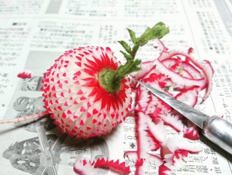 Gaku, radish art, mukimono, food art