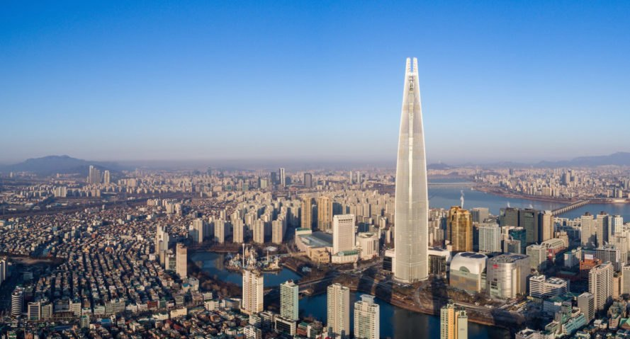 Lotte World Tower by Kohn Pederson Fox Associates, Lotte World Tower in Seoul, LEED Gold in Seoul, Seoul skyscraper, worlds tallest buildings, sustainable architecture in Seoul