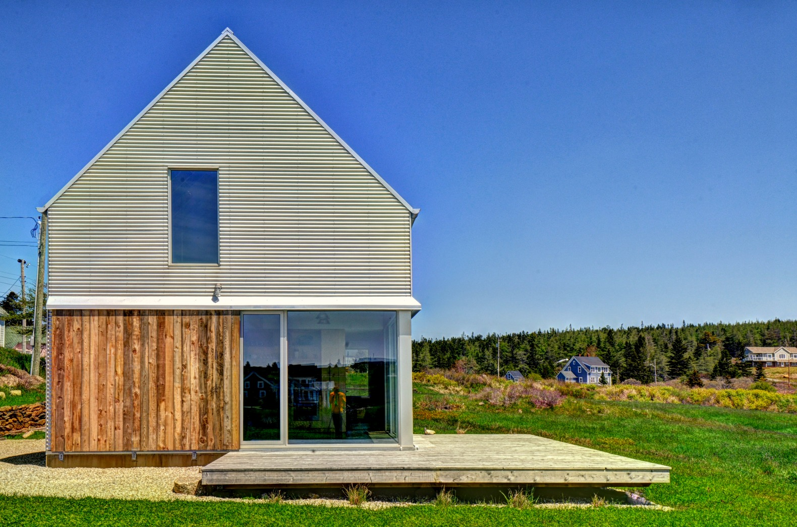 Minimalist barn inspired home was built as a landscape Barn designs