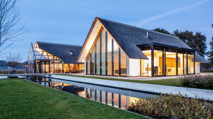 This gorgeous greenhouse-like home in the Netherlands