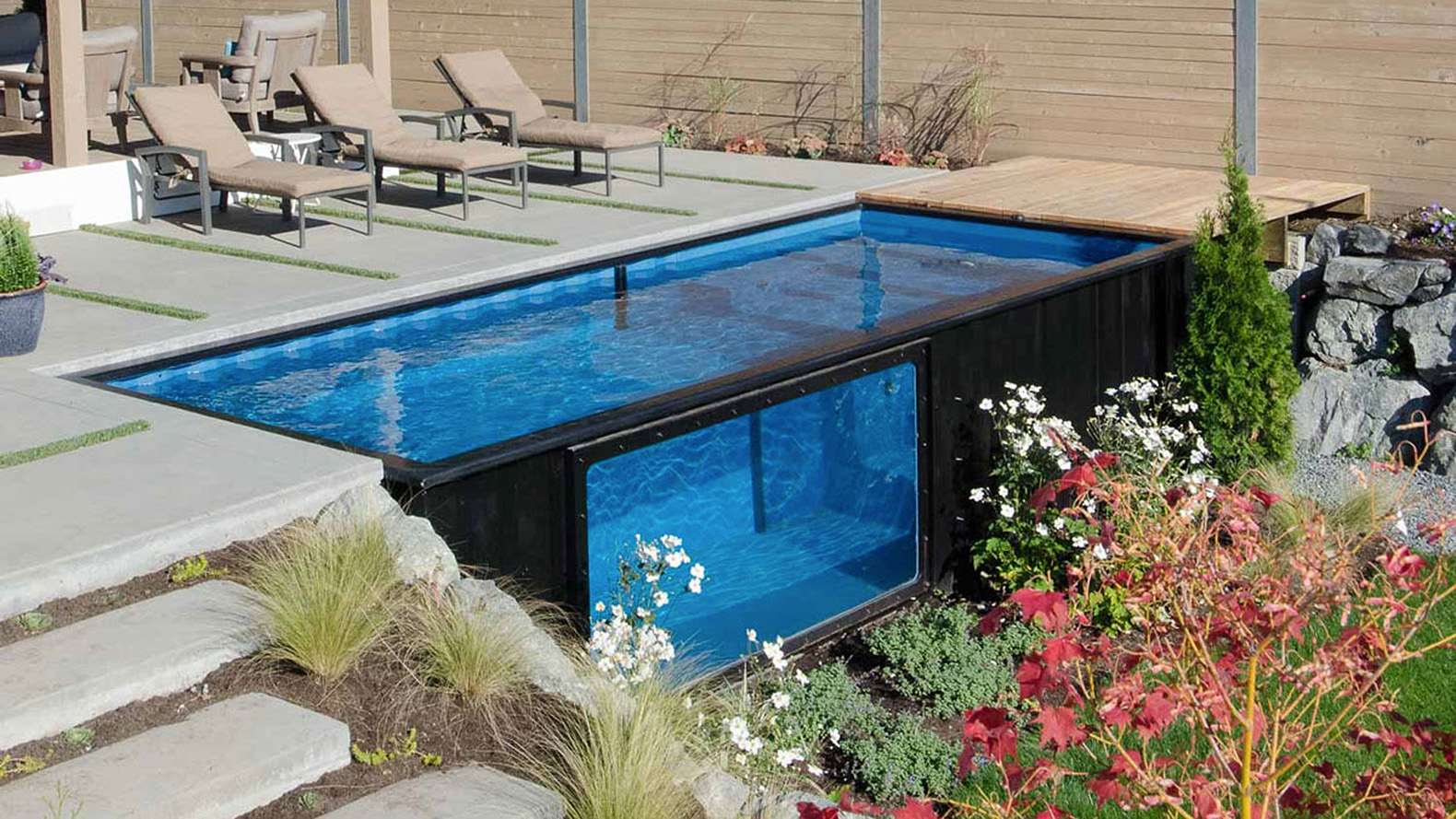 modpools turns shipping containers into amazing swimming pools inhabitat green design. Black Bedroom Furniture Sets. Home Design Ideas