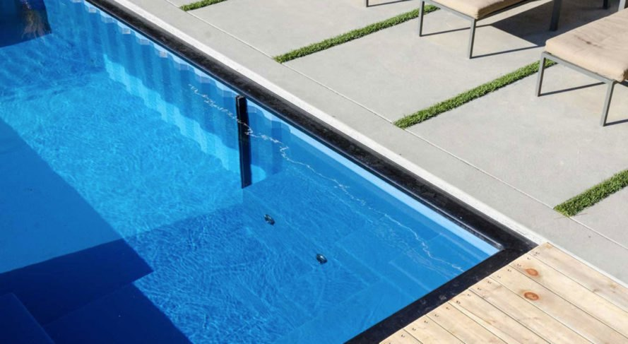 Modpools, shipping containers, swimming pool, prefab, LED lights, prefab structures, temporary structures