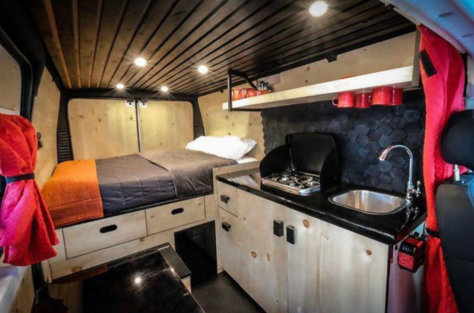 living out of a van has never looked this good inhabitat green design innovation. Black Bedroom Furniture Sets. Home Design Ideas